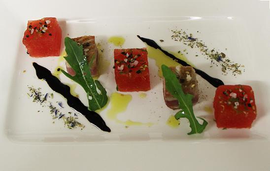 Thunfisch mit Wassermelone